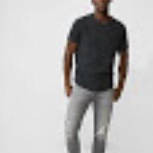 Express Garment Dyed Crewneck T-Shirt Grey Large